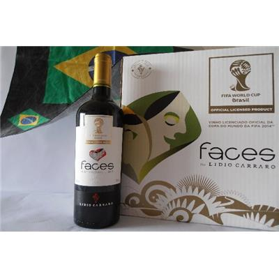 VIN ROUGE FACES 2013 13° 75 cl / LIMITED EDITION 2014 FIFA WORLD CUP BRAZIL