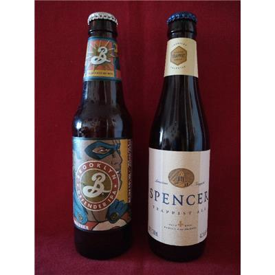 DUO USA BROOKLYN DEFENDER IPA 5,9° & SPENCER TRAPPIST ALE 6,5°